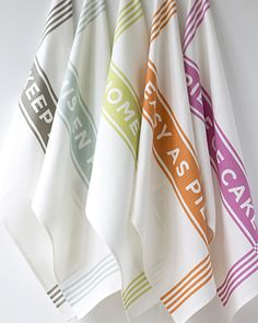 newest additions @studiopatro - use cloth not paper :) Easy As Cake Tea Towels