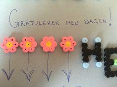 Prosjekt bursdagskort - Blomster/bokstavdetalj 🌸