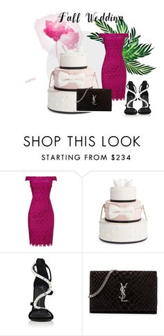 """Fall Wedding"" by shoenique ❤ liked on Polyvore featuring Adrianna Papell, Kate Spade, Giuseppe Zanotti, Yves Saint Laurent and fallwedding"