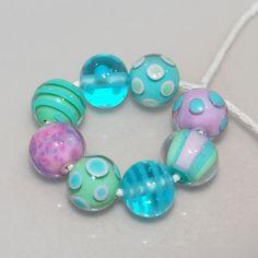 Sweet Little Rounds Handmade Lampwork Glass Bead Set by genschi, $25.50