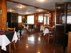 Whether you are staying at Beachwood or live nearby, the charming atmosphere is sure to please. Lakeside Dining, Ontario, Hardwood Floors, Restaurant, Country, Live, Furniture, Home Decor, Wood Floors Plus