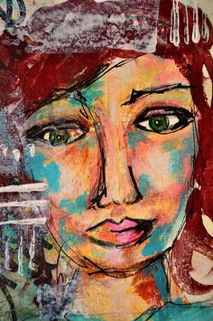 That wonky eye does something for me.   Dina Wakley