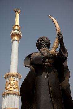 Sword and pillar, Ashgabat Turkmenistan
