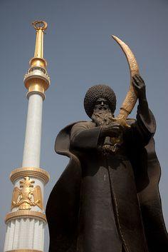 Sword and pillar, Ashgabat Turkmenistan