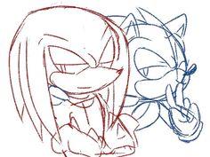 """Shhh, tell no one"" Perler Bead Art, Perler Beads, Sonic & Knuckles, Parent Night, Echidna, Sonic Fan Art, Single Parenting, My Childhood, Sonic The Hedgehog"