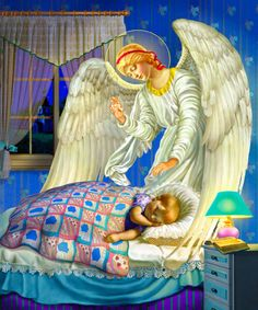 """Illustrations for """"My First Prayerbook"""", Guardian Angel Russian Painting, Russian Art, Angels Beauty, Diamond Drawing, Mount Rainier National Park, Angels Among Us, Guardian Angels, Catholic Art, Orthodox Icons"""