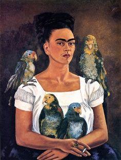 Me and My Parrots ~ Freida Kahlo