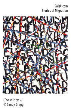 """""""Crossings II"""" - art quilt by Sandy Gregg"""