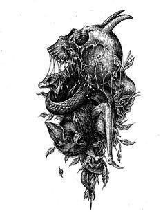 Darkness, Horror, Relax, Tattoos, Drawing S, Tatuajes, Tattoo, Tattos, Tattoo Designs
