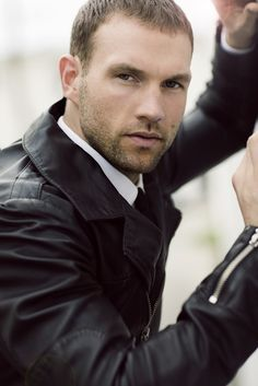 Lucas Kerr by Michael Brager/ leather jacket