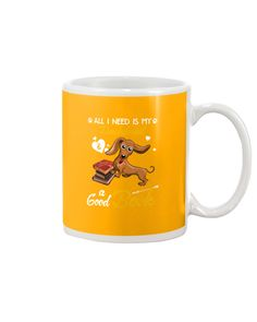 All I Need Is My Dachshund Dog A Good Book Mugs - Gold dachshund puppy for sale, red dachshund, funny dachshund pictures #doxiesofinstagram #dachshundappreciation #wirehairdachshund, dried orange slices, yule decorations, scandinavian christmas Dapple Dachshund Puppy, Dachshund Puppies For Sale, Wire Haired Dachshund, Dachshunds, Teacup Dachshund, Golden Dachshund, Beagle Puppy, Dachshund Tattoo, Dachshund Quotes