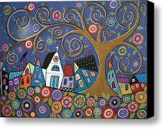 Swirl Tree Village--Karla Gerard