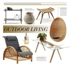 """Outdoors"" by lovethesign-eu ❤ liked on Polyvore featuring interior, interiors, interior design, home, home decor, interior decorating, Sika, Serax, Home and outdoors"