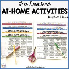 Fun at-home activities for preschool and pre-k students. Hands-on and easy to prep. Perfect to keep your little ones learning through play! Gross Motor Activities, Hands On Activities, Learning Activities, Preschool Activities, Monthly Planner Printable, Printable Calendar Template, Free Printable, Kids Calendar, Calendar Design