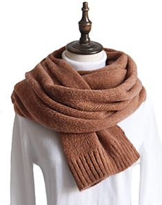 597789ceb0d2b ALAZA Women Knit Scarf, Faurn Thick Warm Soft Simple Neck Scarves Lambswool  Pashmina Feel Neck