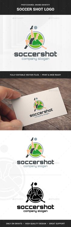 Soccer Shot Logo Template - Humans Logo Templates Download here : http://graphicriver.net/item/soccer-shot-logo-template/15682703?s_rank=266&ref=Al-fatih