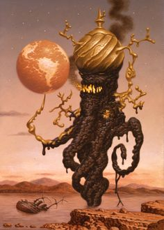 """Todd Schorr """"Tower of Babel""""."""