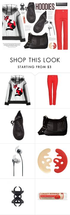 """""""Heads Up! Cute Hoodies"""" by katarina-blagojevic ❤ liked on Polyvore featuring MSGM, Alexander McQueen, Ann Demeulemeester, LeSportsac, Bose, Eshvi and H&M"""