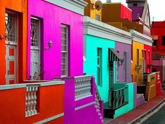Bo-Kaap, Cape Town, South Africa - TripAdvisor's Top 10 most colorful places World Of Color, Color Of Life, African Colors, Cape Town South Africa, Oh The Places You'll Go, Architecture, House Colors, Beautiful Places, Around The Worlds