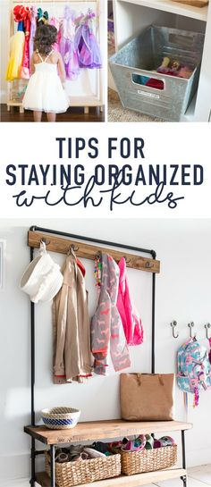 Staying Organized with Kids Tips for keeping the toys from taking over. #organizationtips #toyorganization #homeorganization