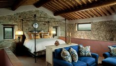 exclusive 41-room boutique hotel and spa. Teams of architects and artisans transformed 28 of the farmhouses scattered around the property into elegant private villas, maintaining as many of the original architectural details as possible, including ancient stone walls, exposed-beam ceilings, and traditional terra cotta roof tiles.