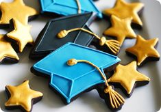 graduation cookies ::: bake at 350 blog #yearofcelebrations
