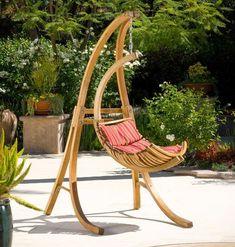 Talya - Outdoor Wicker Swing Chair at $465.00 Via             Belina - Nature Wicker Porch S wing Chair - Great Hammocks - Model - DL001...