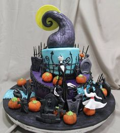 Nightmare Before Christmas cake.  Artist unknown.