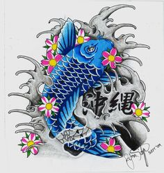 Blue Koi by ryanschipper89.deviantart.com on @deviantART