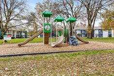 include on-site laundry centers, a community playground, and controlled access.