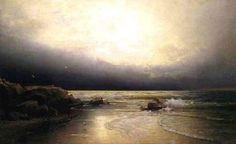 "William Trost Richards (1833-1905) ~ ""Lands End New Jersey coast"""