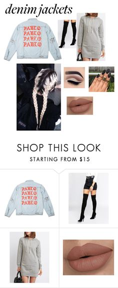 """""""A bit of denim"""" by heyitsjesss ❤ liked on Polyvore featuring Kendall + Kylie and Charlotte Russe"""