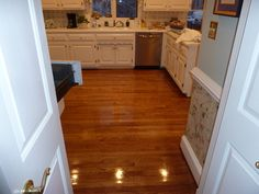 2 1/4'' Red Oak hardwood flooring Stained Golden Oak and Coated with a High Gloss finish..