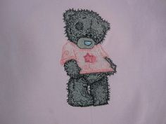 Teddy Bear like the new shirt machine embroidery design