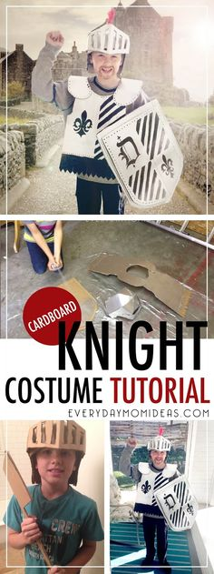DIY Cardboard Knight Costume Tutorial. Kids costume on a budget, Boys Costume,