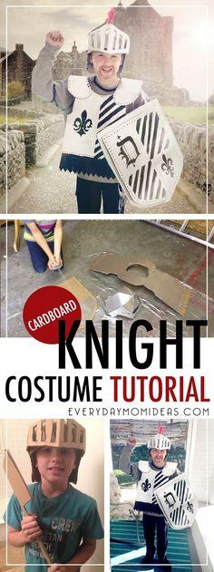 DIY Cardboard Knight Costume Tutorial. Kids costume on a budget, Boys Costume,