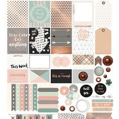 Patterned Checklist Squares & Bonus Words/Washi Label Printable - Free Planner Printable | My Planner Envy