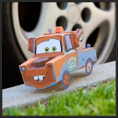 Cars Toons: Mater's Tall Tales - Tow Mater Paper Car Free Papercraft Download