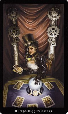 More beautiful Tarot card artwork from the Steampunk Tarot card deck.