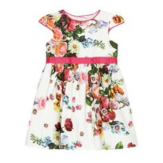 68ed696754b88d Baker by Ted Baker Babies off white floral prom dress