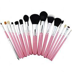 huge selection of 25139 af537 15st pro kosmetiska sminkborste set lipbrush överlägsen mjuk + salong  kontur ansiktskräm concealer + rengöringsverktyg handske