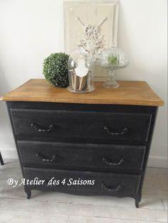 repeindre un meuble avec la miraculeuse peinture vernis v33 taupe photos et tables. Black Bedroom Furniture Sets. Home Design Ideas