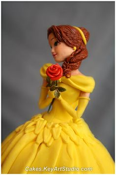Princess Belle Cake (Beauty and the Beast) by Cakes.KeyArtStudio.com, via Flickr