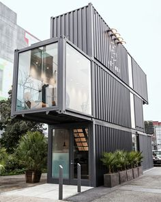 collection of shipping containers transformed for fashion retailer   envelope a&d