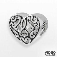 Individuality Beads Sterling Silver Filigree Heart Bead  Regular Price $60  Sale Price $24