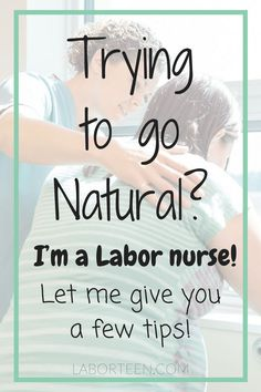 Trying to avoid an epidural and go the natural route? Here's a few natural labor tips I've complied to help a mama out! Just because you are having a baby, doesn't mean you must get an epidural. Learn how to cope with labor naturally if you plan on an un-medicated birth! Labor Nurse, Pregnancy Labor, Happy Pregnancy, Pregnancy Fitness, Pregnancy Quotes, Pregnancy Nutrition, Pregnancy Advice, Pregnancy Stages, Pregnancy Workout