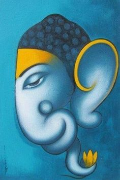 Buy online Paintings - Ganesha by somnath bothe i from World Art Community Ganesha Drawing, Lord Ganesha Paintings, Ganesha Art, Krishna Painting, Ganpati Drawing, Ganesh Idol, Budha Painting, Easy Canvas Painting, Fabric Painting