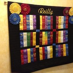 Ribbon Quilt.....need to do this and get them all out of the box