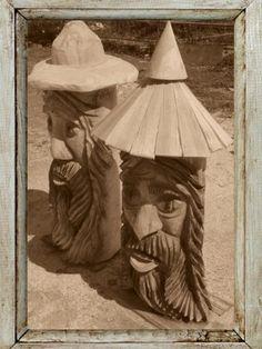 Klát, výška 150 cm, použitý materiál-borovice, cena 5 000 Kč.jpg :: ...řezbářské…