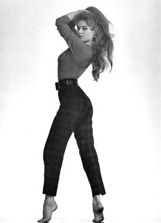 Brigitte Bardot in the 1950s.